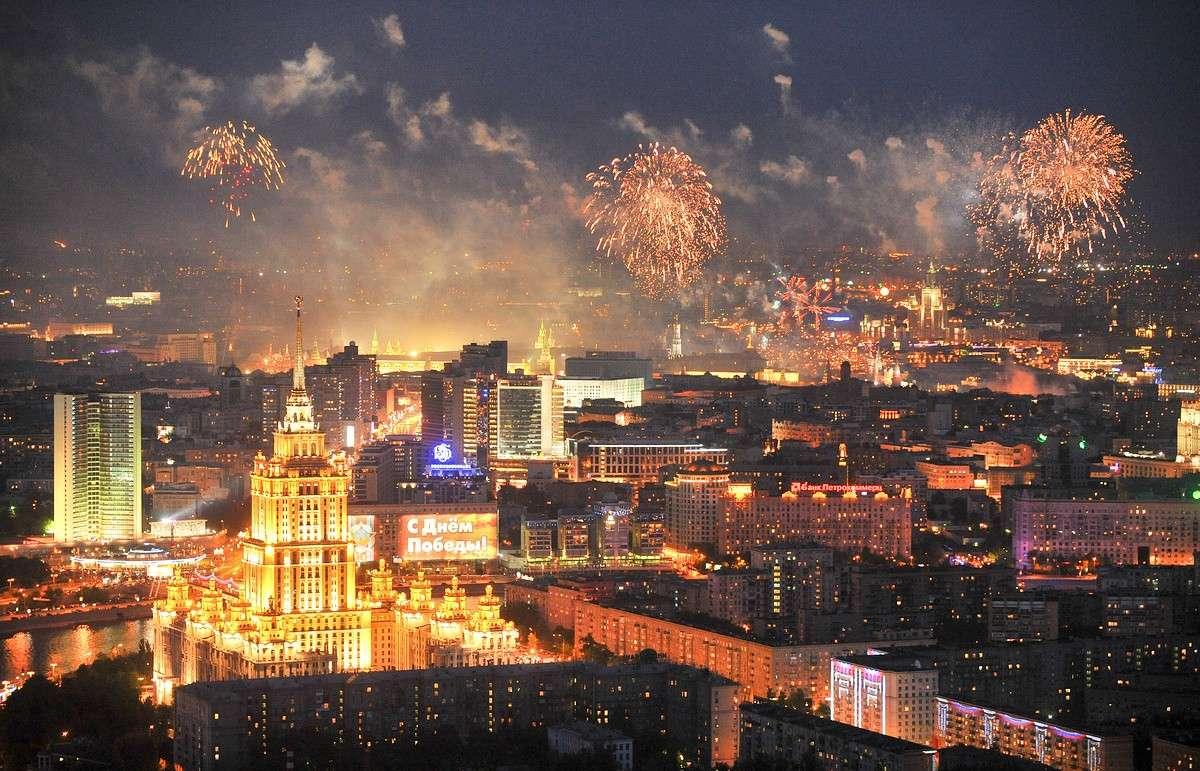 Где в Москве можно будет посмотреть салют 9 мая. Карта