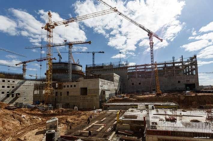 Ход строительства Белорусской атомной станции нового поколения АЭС-2006