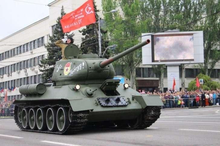 Донецк: Парад Победы и шествие «Бессмертного полка»