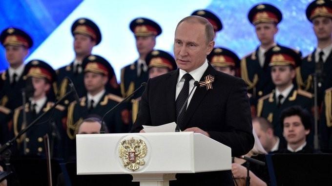 В Кремле состоялся торжественный приём послучаю Дня Победы