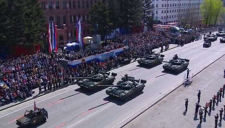 По всей России в парадах Победы участвовали более 40 тысяч военных