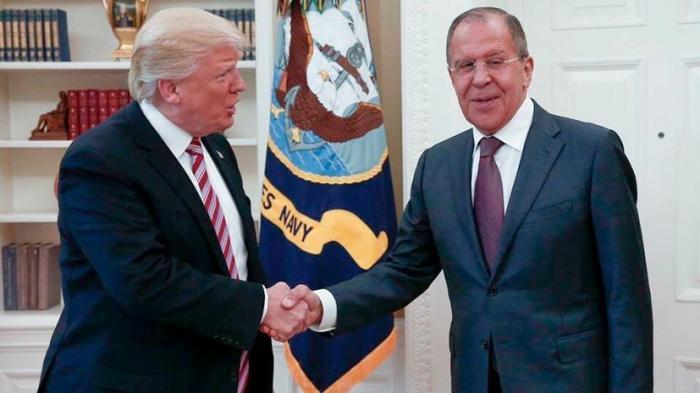 Пресс-конференция Сергея Лаврова по итогам переговоров с Дональдом Трампом и Рексом Тиллерсоном