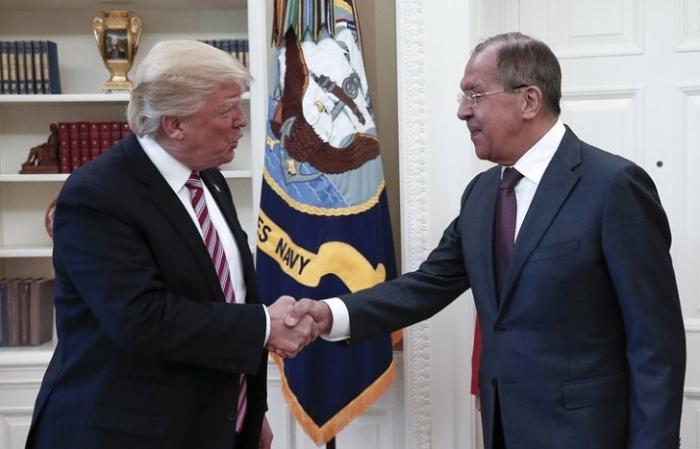 Встреча Дональда Трампа и Сергея Лаврова длилась 40 минут