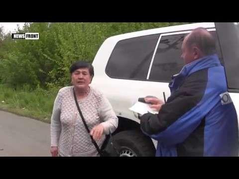 Крик души: мирная жительница высказала представителям ОБСЕ всё, что она о них думает