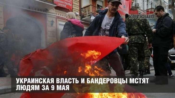 Киевская еврейская хунта вместе с бандеровцами мстят участникам акции «Бессмертный полк»