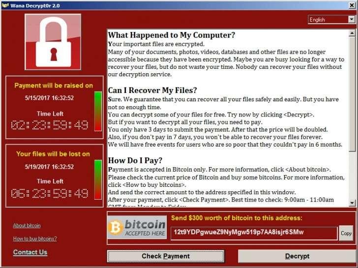 Вирус-шифровальщик парализовал десятки тысяч компьютеров по всему миру. Как от него защититься