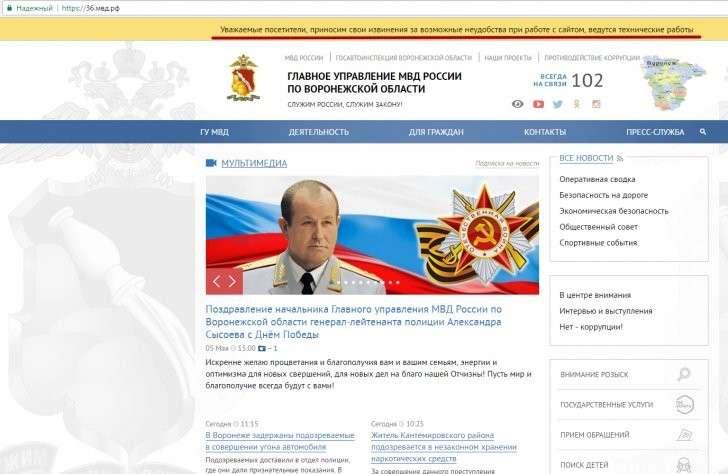 Воронеж: технический сбой сайтов МВД и ГИБДД – следствие хакерской атаки?