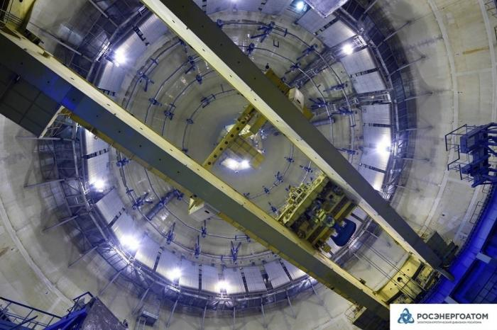 НаЛенинградской атомной станции ЛАЭС-2 завершились испытания герметичной оболочки здания реактора