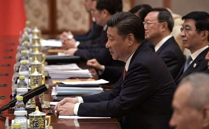 Входе российско-китайских переговоров. Председатель Китайской Народной Республики Си Цзиньпин.