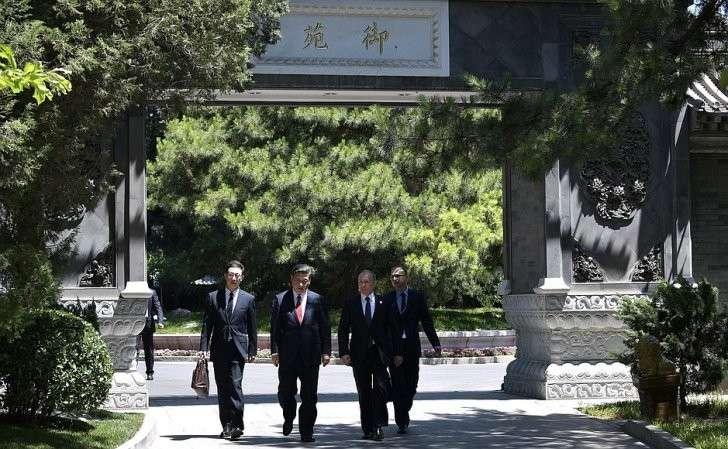 Позавершении российско-китайских переговоров. СПредседателем Китайской Народной Республики Си Цзиньпином.