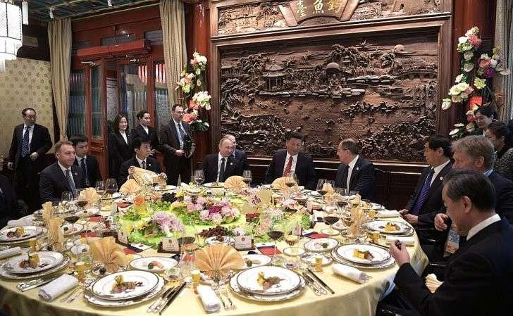 Рабочий завтрак сПредседателем Китайской Народной Республики Си Цзиньпином.