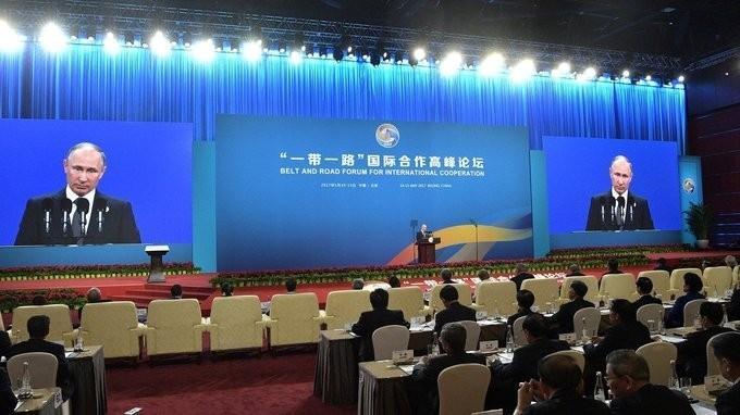 В Пекине Владимир Путин выступил на церемонии открытия Международного форума «Один пояс, один путь»