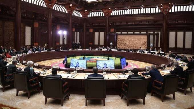Заседание круглого стола лидеров форума «Один пояс, один путь»