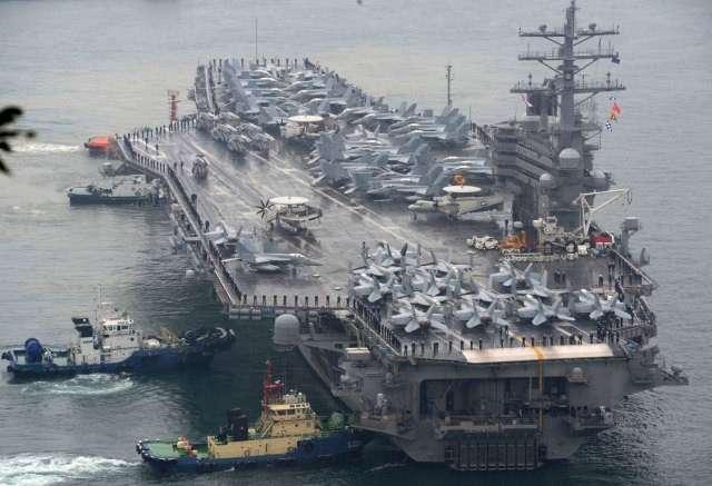 Япония: авианосец Рональд Рейган не может покинуть базу Йокосука из-за неисправности