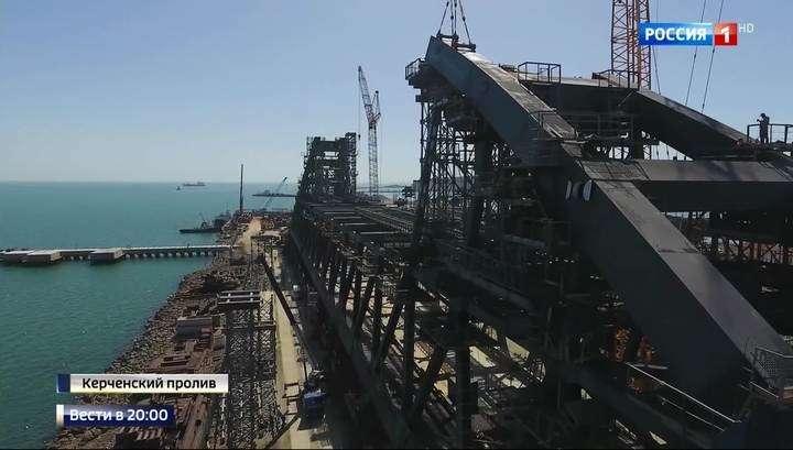 На строительстве Керченского моста готовятся использовать уникальную плавучую систему