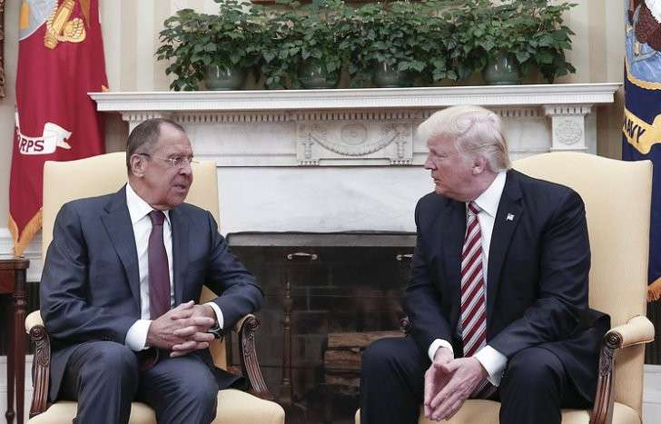 Глава МИД РФ Сергей Лавров и президент США Дональд Трамп