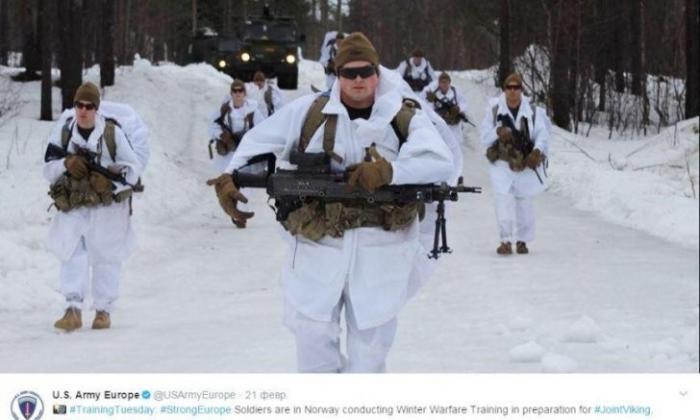 Морпехи США едва не замерзли насмерть во время учений у границы России