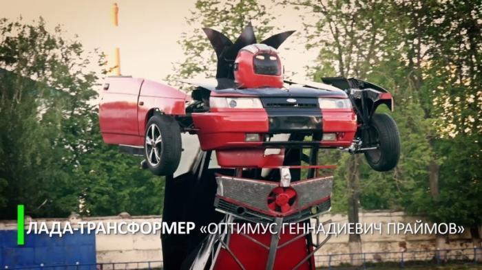 Русский каскадер Геннадий Кочерга вместе с сыном собрал «Ладу»-трансформер