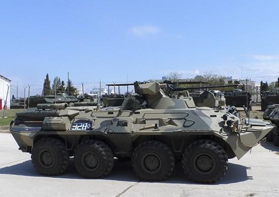 Морская пехота Черноморского флота перевооружена нановые БТР-82А