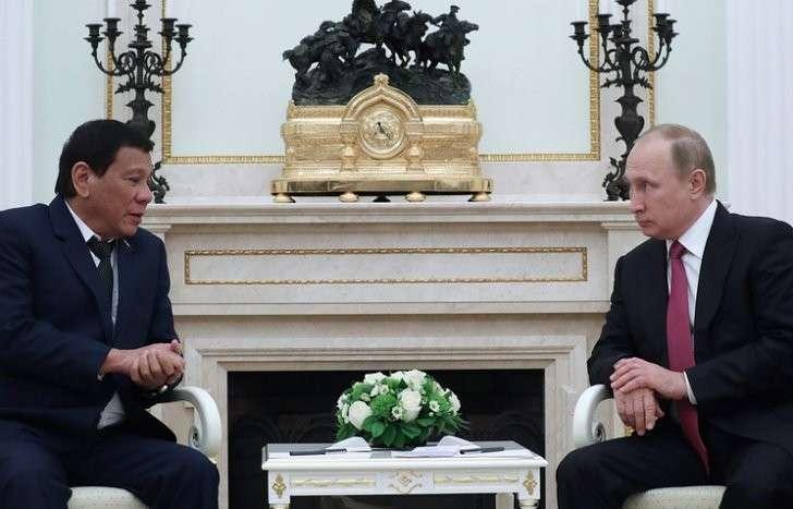 Президент Филиппин Родриго Дутерте и президент РФ Владимир Путин, Москва, 23 мая