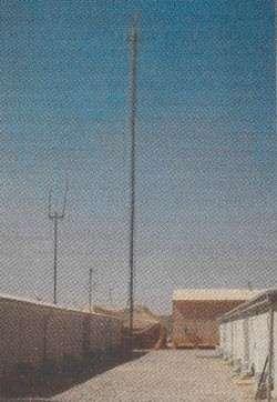 25-м антенна РТМ-100, используемая для усиления сигнала переносных радиопередатчиков