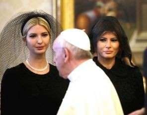 Мелания и Иванка Трамп в трауре пришла к Папе Римскому