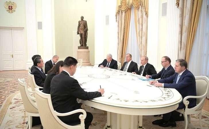 Встреча сМинистром иностранных дел Китайской Народной Республики Ван И.