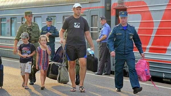 В Смоленскую область прибыли примерно 400 жителей Украины. Архивное фото