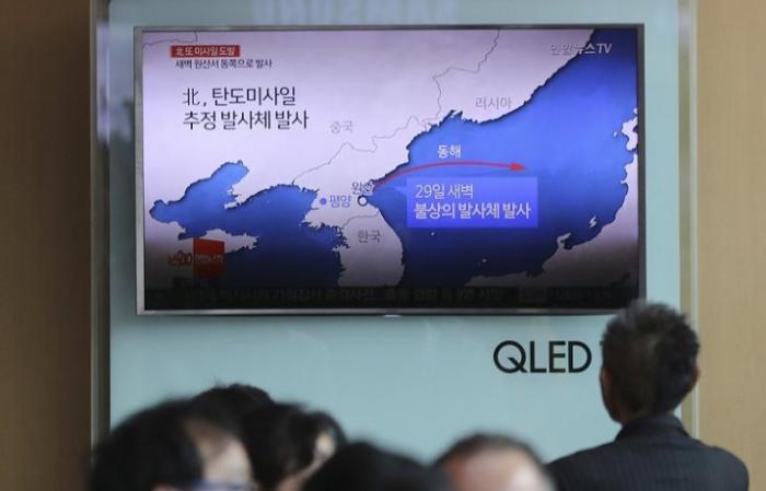 Япония: запущенная Северной Кореей ракета поднялась всего на 100 км