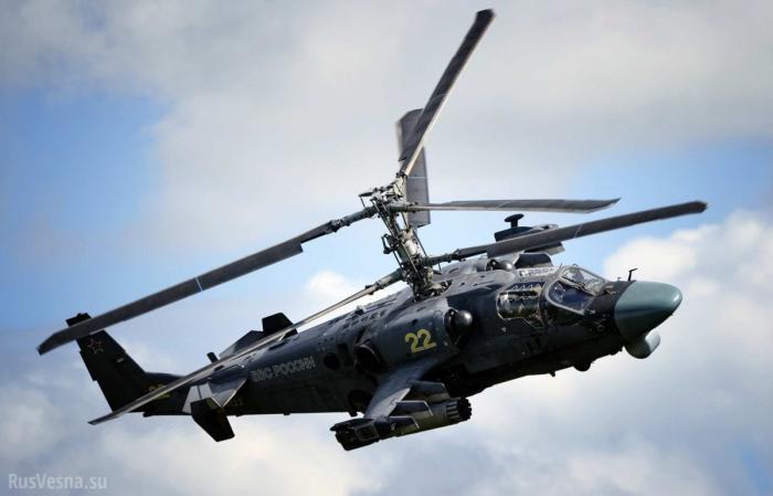 Сирия: «Аллигаторы» Ка-52 уничтожают технику американских наёмников под Пальмирой