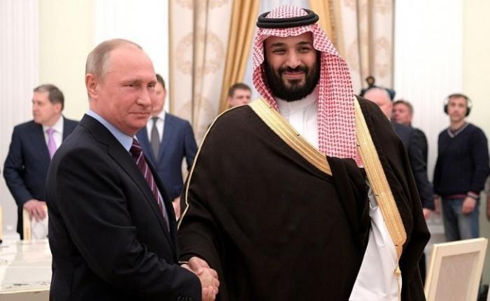 Встреча Владимира Путина с преемником наследного принца, министром обороны Саудовской Аравии
