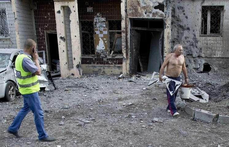 Украинские каратели обстреляли Донецк из установок «Град»