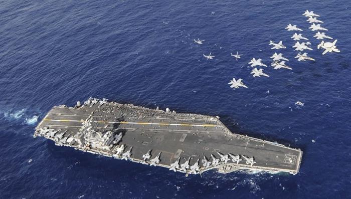 Ударная группа ВМС США отправилась в поход к Северной Корее