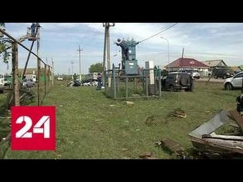 Татарстан: неожиданно возникшее торнадо полностью разрушило несколько домов