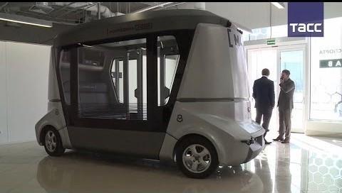 В Сочи начали тестировать российский беспилотный электрический автобус «Матрёшка»