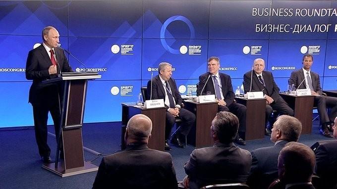 Встреча Владимира Путина спредставителями российского иамериканского бизнеса