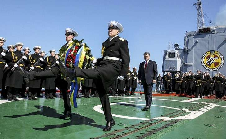 Последний парад украинского флота, дальше прямиком на дно