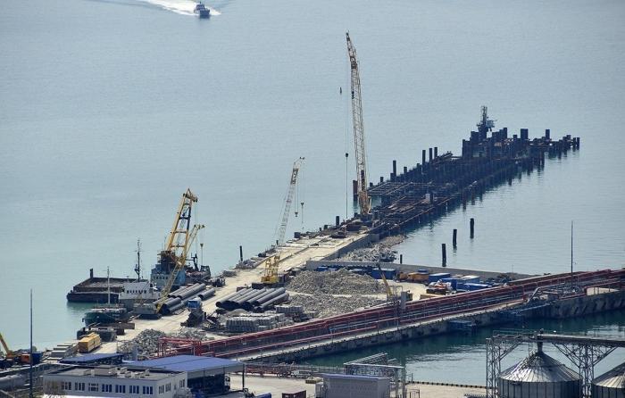 Строительство Новороссийской Военно-Морской Базы. Свежие кадры