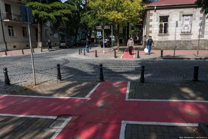 Грузия, Батуми: транспорт, парковки и велоинфраструктура