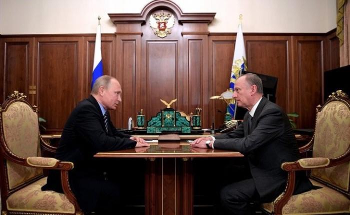 Встреча Владимира Путина сСекретарём Совета Безопасности Николаем Патрушевым