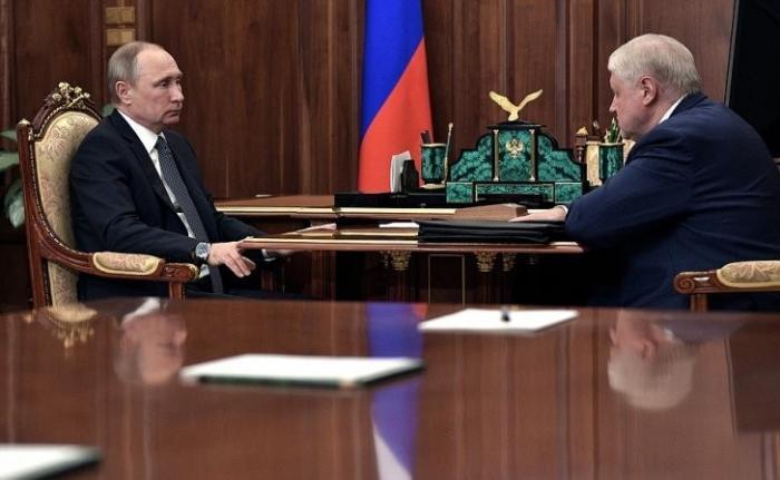 Владимир Путин провёл рабочую встречу слидером партии «Справедливая Россия» Сергеем Мироновым