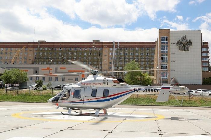 Волгоградская область первой вРоссии получила вертолёт «Ансат» в медицинской комплектации
