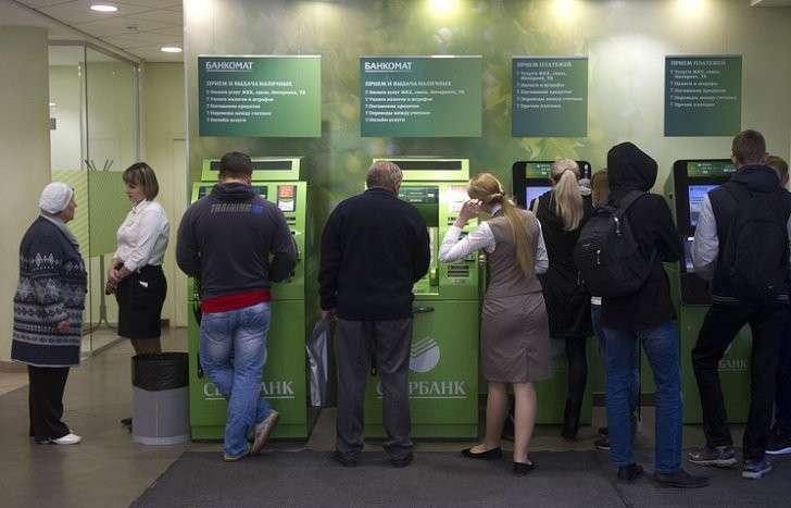 В работе банкоматов Сбербанка произошли массовые перебои