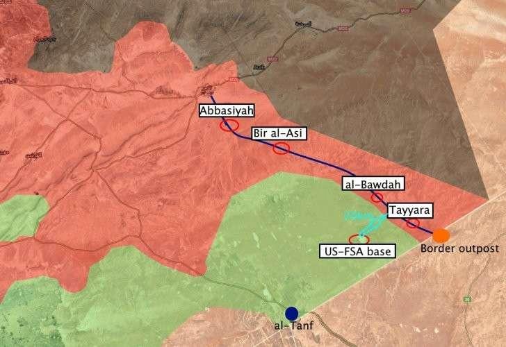 Большой успех Армии Сирии и ВКС РФ – вопреки ударам США, войска вышли к границам Ирака и Иордании