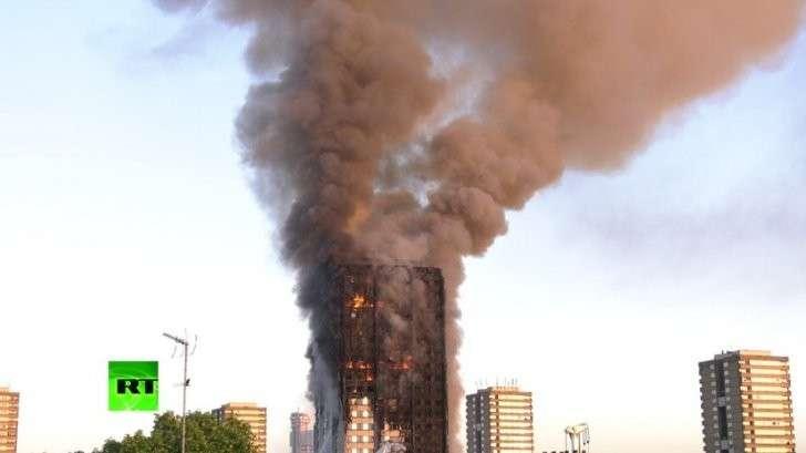 Лондон: страшный пожар в многоэтажном доме, госпитализированы 30 человек