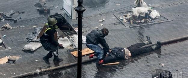 Участник Евромайдана убежден, что в него стреляли со стороны гостиницы «Украина»