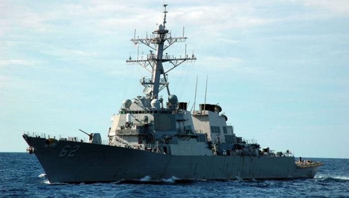 Япония: Эсминец ВМС США столкнулся с торговым судном