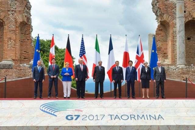 Дональд Трамп на саммите G7. Италия. 2017