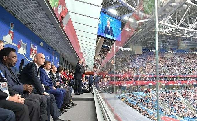 Владимир Путин выступил на церемонии открытия Кубка конфедераций