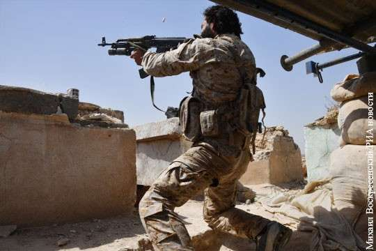 Сирия, Дейр эз Зор: предотвращен прорыв рубежей правительственной армии наёмниками США